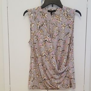Banana Republic floral no sleeve blouse
